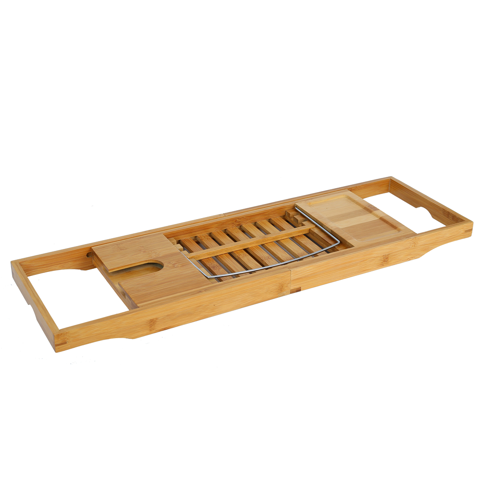 Bamboo Bath Tray with Extending Sides - Simtex Bamboo